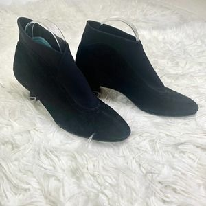 THIERRY RABOTIN Cross Ankle Bootie Black Leather